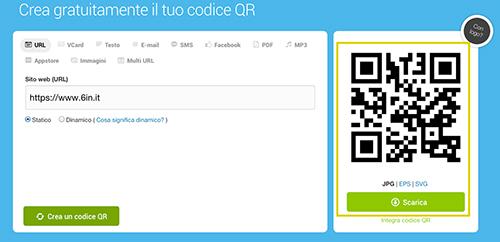 Creare un codice QR