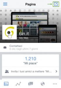 Applicazione per gestione pagine facebook