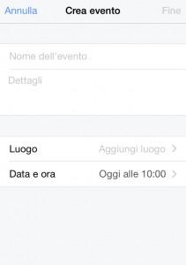 Creazione evento facebook
